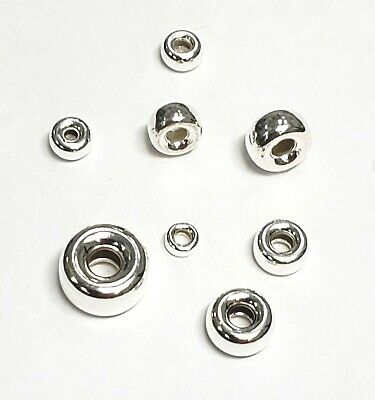 Sterling Silver Roundel-Spacer Beads 3mm,4mm,5mm,6mm,8mm