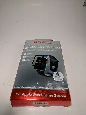 ZAGG - InvisibleShield® Glass Curve Elite for Apple Watch Series 3 2 1 38mm