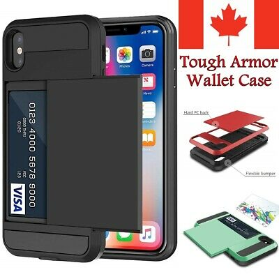 For iPhone X & XS Case - Hard Max Shockproof Tough Armor Wallet Cover