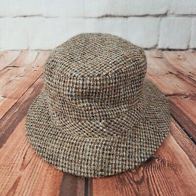 huge selection of 86cea 4597a LL Bean Harris Tweed Hand Woven 100% Scottish Wool Gore-Tex Hat Preowned