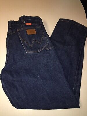 4113ce2d Wrangler FR13MWZ Flame Resistant Relaxed Fit Blue Jeans Men's 36x33 FR HRC2  2112