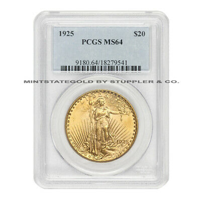 1925 $20 Saint Gaudens PCGS MS64 choice certified Philadelphia Gold Double Eagle