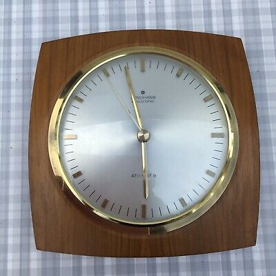 Vintage Retro Mcm junghans electronic Wall clock Teak Wood