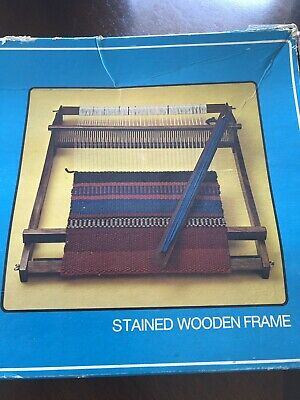 "Vintage 1970's guild 20"" Weaving Loom in Original Box never used retro table top"