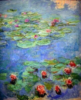 Claude Monet Water Lilies Floral Home Decor CANVAS Art Print Poster Giclee 8x10