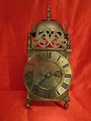 Victorian double fusee quarter strike table lantern clock