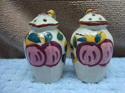 Hand painted Coffee pot shaped salt & pepper set.