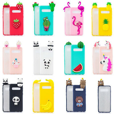 3D Cute Cartoon Soft Silicone Shockproof Case Cover For Samsung S10 Plus S10E