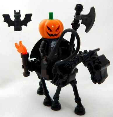 NEW LEGO HEADLESS HORSEMAN MINIFIG halloween horse man sleepy hollow minifigure