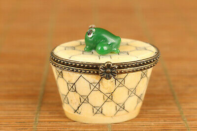 Rare old boxwood hand carving lizard statue figue table home decoration gift