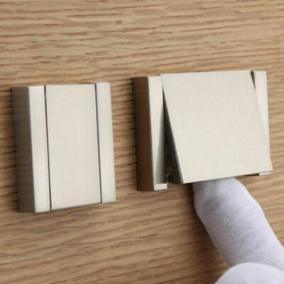 Cabinet Knob Cup Drawer Furniture Door Shell Pull Handle Invisible Flat Sliver