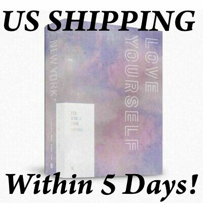 US SHIPPING BTS-[World Tour Love Yourself In New York] DVD+Book+Post+Card+Gift