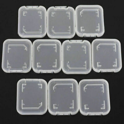 10PCS Transparent Standard SD SDHC Memory Card Case New Stand Holder Box Storage