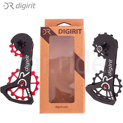 cb0fa012d49 2018 Digirit Shimano Di2 R8000/R9100 Oversize Bike Pulleys Wheel Kit  Black,Red