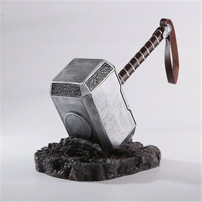 THE Avengers Thor 1:1 Full Resin Solid Hammer /Stand Base Replica Cosplay Props