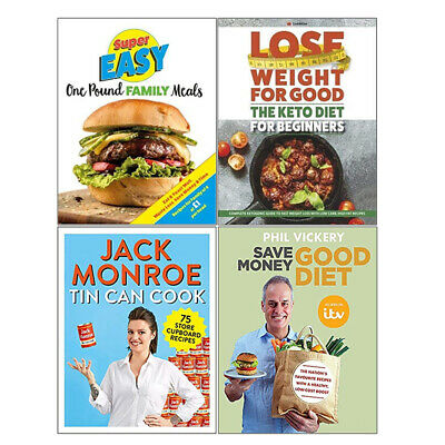 Super Easy One Pound Family Meals,Save Money Good Diet,4 Books Collection Set