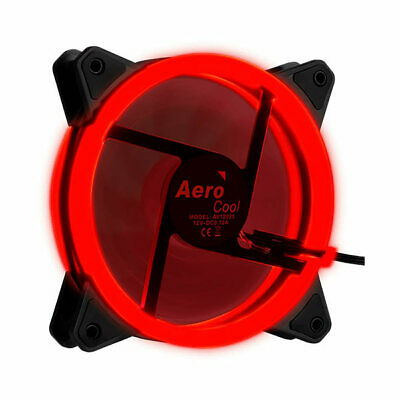Ventilador Interno Aerocool Rev Red 12x12mm Ultrasilencioso Iluminacion Doble An