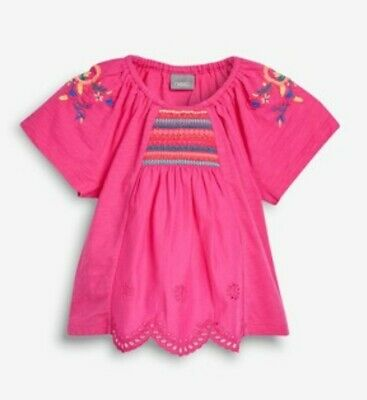 Baby Girl - 6-9 Mths - Blouse - Bright Pink - Next - Bnwt