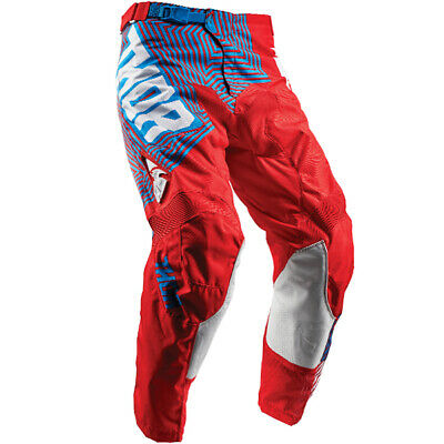 2018 Thor Pulse Pants - Geotec Red Blue