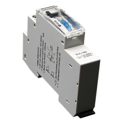 3X(SUL180a 15 Minutes Mechanical Timer 24 Hours Programmable Din Rail TimerR1O6)