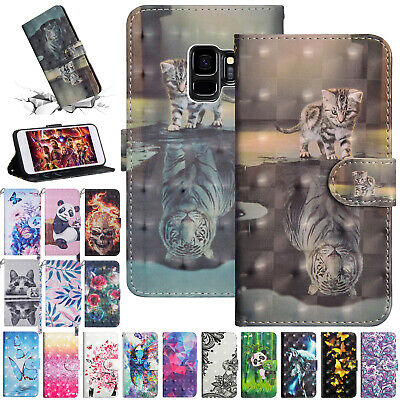 For Samsung Galaxy A10 Case A50 A30 M30 A70 Magnet Wallet Leather Painted Cover