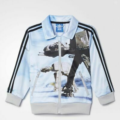 size 0-3 months babies - adidas 3 stripe star wars at-at cribs track top  ab1847