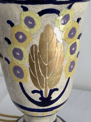 VERY OLD Antique Porcelain Lamp Japan Scandinavian Design? Cobalt Gold Beautiful