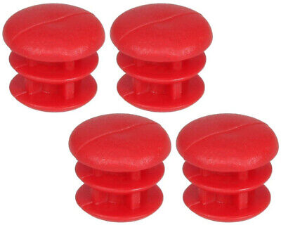 Go Kart Rubber Cap For 14mm Tube Red x 4 Karting Race Racing