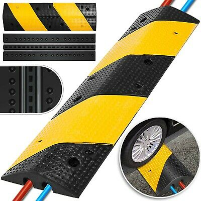 2 Channel Rubber Speed Bumps Electric Stable Substructure Sturdy Road Safety