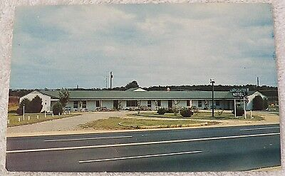 Chrome Postcard The Lamplighter Motel Fredericksburg Virginia Modern Tile V P224