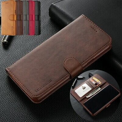 For Samsung S10 5G Case Note 9 S8 Plus Retro Magnetic Leather Wallet Stand Cover