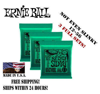 ** 3 Sets Ernie Ball Not Even Slinky 2626 Electric Guitar Strings 12-56 **