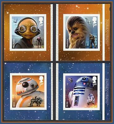 2017 Star Wars SG4015- 4018 Self Adhesive 4V Single StampS ex PM57/ 58 Booklets