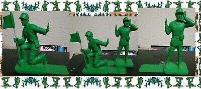 Blue Gifts Toy Soldier Book Ends Classic Plastic Green Army Men