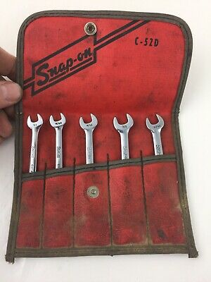 """Snap On Tools C52D Short Ignition Wrench Set Combination 6 point 1/4"""" - 3/8"""""""