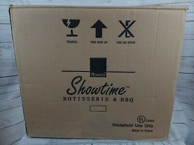 1999 Original RONCO Showtime Rotisserie BBQ 4000 MINT IN BOX Unused
