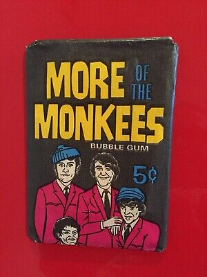 Vintage The Monkees Wax Pack Trading Cards Sealed