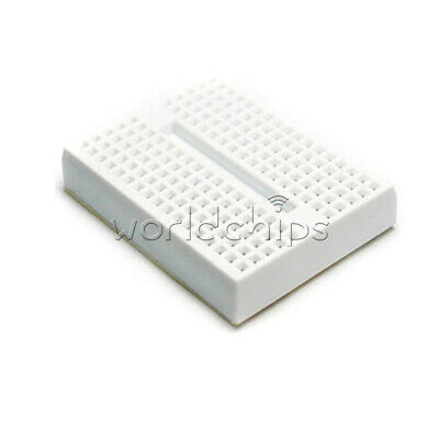 2PCS 170 Tie-points Mini Solderless Prototype Breadboard ABS White for Arduino
