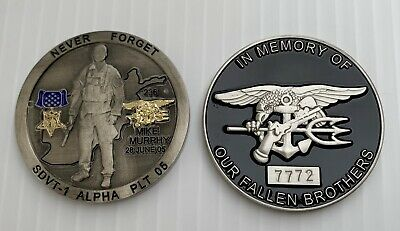 NAVY SEALS SEAL Team 1 Mike Murphy Operation Red Wings Nsw Alpha Challenge  Coin
