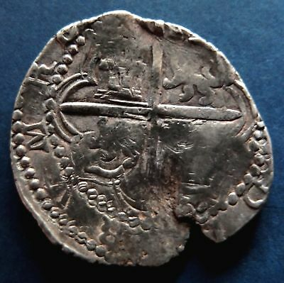 Lovely pirate cob & spanish colonial * Silver 8 Reales Potosi Q 1614-1616 * Rare
