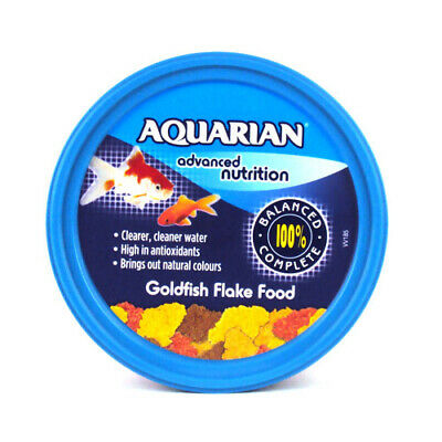 Aquarian Goldfish Fish Flake Food 13g 25g 50g 100g 200g Fish Tank Flakes
