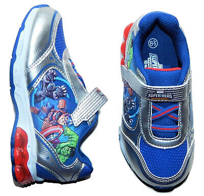 Marvel Avengers Hulk Lumineux Sneakers Athletic Chaussures pour Tout-Petits 8.5