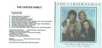 THE CARTER FAMILY & JOHNNY CASH sing THE WILDWOOD FLOWER  released 1988 on CD