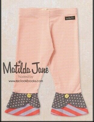 MATILDA JANE FRIENDS FOREVER Alden Scrappy Leggings Capris 6 Polka Dot Stripes