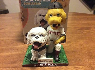 2016 Wisconsin Timber Rattlers Fang & Hank The Dog Bobblehead!!!