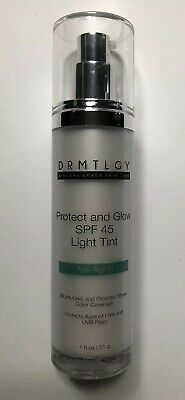 DRMTLGY Anti-Aging Protect and Glow SPF 45 Light Tint. 1.8oz. Exp: 12/19