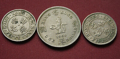 Mixed Group Of Queen Elizabeth Hong Kong Coins  Circulated World Coin  #Twm30