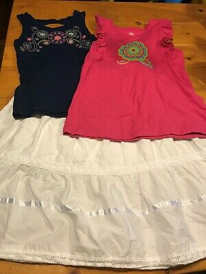 Girls Size L 10/12 Summer Outfit by J Khaki (2 tops & long skirt)