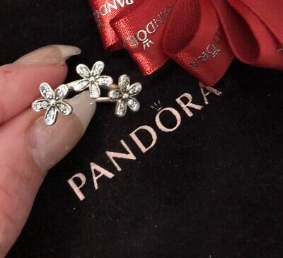 a772fe21e Pandora Dazzling Daisies CZ Flower Ring Size 60 190933 Retired Authentic  Ale 925