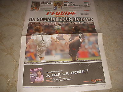 EQUIPE 19068 13.09.2006 FOOT Avt LIGUE CHAMPIONS LYON REAL MADRID RUGBY BRIVE -